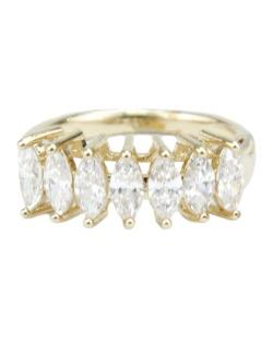Anel de metal dourado com strass cristal River