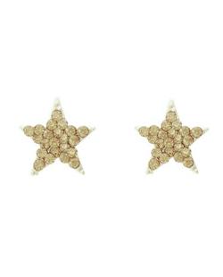 Brinco pequeno estrela com strass Swarovski licor Paula Negrão