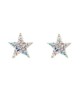 Brinco pequeno estrela com strass Swarovski furta-cor Paula Negrão