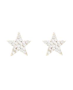 Brinco pequeno estrela com strass Swarovski cristal Paula Negrão