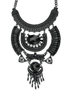 Maxi colar de metal preto Jomsom