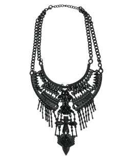 Maxi colar de metal preto khel