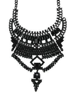 Maxi colar de metal preto Pur