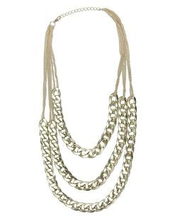 Maxi colar de metal dourado Kirti