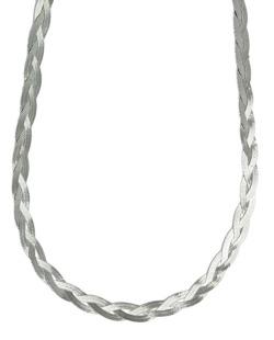 Colar de metal prateado Phak