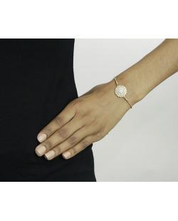 Pulseira de metal dourado com strass cristal Stenik