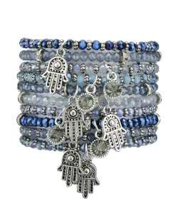 Kit 10 pulseiras azul Oruro