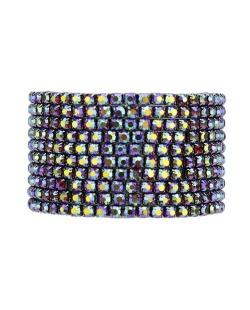 Kit 10 pulseiras de metal com strass furta-cor verde Octay