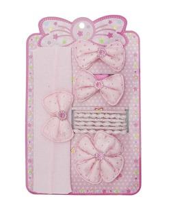 Kit infantil 9 rabicós + 1 faixa de cabelo rosa Rosignol