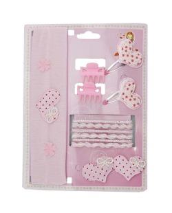 Kit infantil 8 rabicós + 1 faixa de cabelo + 2 mini piranhas