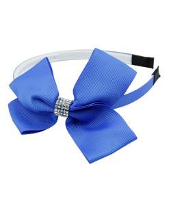 Tiara infantil azul com strass cristal Yali
