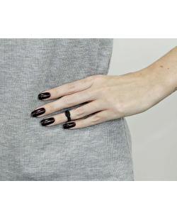 Anel de falange preto Blancah