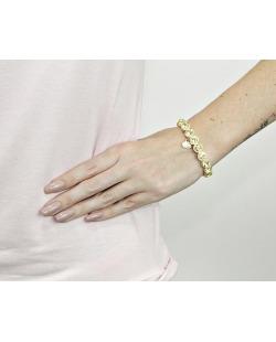 Pulseira de metal dourada com strass de swarovski amarelo Paula Negrão