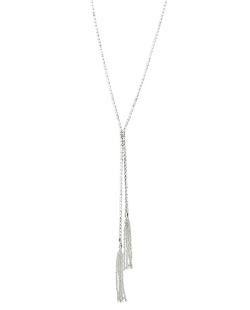 Colar de metal prateado folheado com strass cristal Sochi