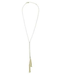 Colar de metal dourado folheado com strass cristal Sochi