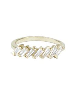 Anel de metal dourado com strass cristal Oriente
