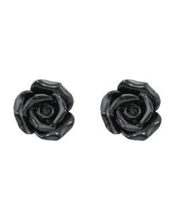 Brinco pequeno de acrílico preto Roses