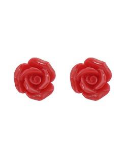Brinco pequeno de acrílico vermelho Roses