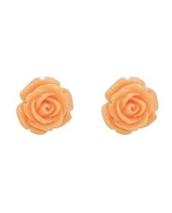 Brinco pequeno de acrílico laranja Roses