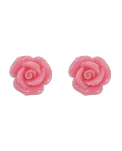 Brinco pequeno de acrílico rosa Roses