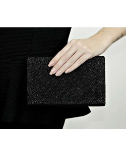 Bolsa de mão clutch preta Trerillos