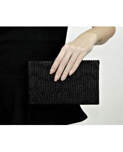 Bolsa de mão clutch preta Soya