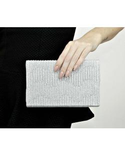 Bolsa de mão clutch prateada Soya
