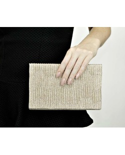 Bolsa de mão clutch Dourada Soya