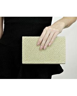 Bolsa de mão clutch dourada Ilopango