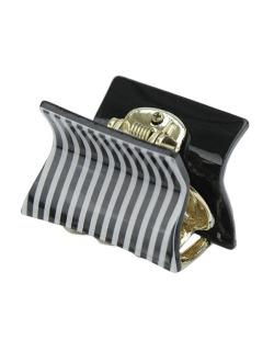 Presilha de acrílico dourado preto e branco Unión