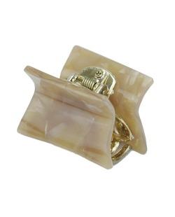 Presilha de acrílico dourado e marrom Perquín