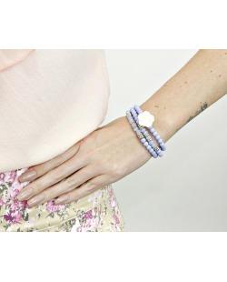 Kit 3 pulseiras de acrílico azul Iloba