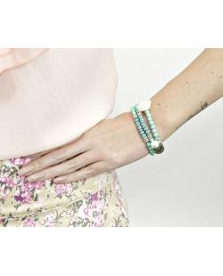 Kit 3 pulseiras de acrílico verde Iloba