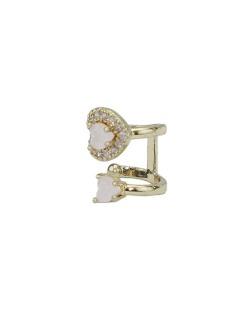 Piercing de pressão dourado com strass rosa Jacal