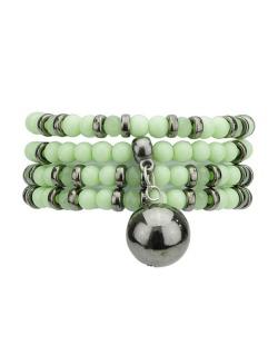 Kit 3 pulseiras de acrílico verde e grafite Champ