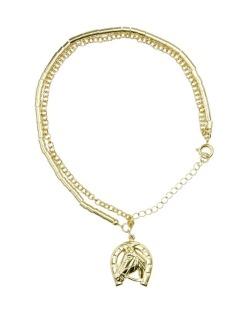 Pulseira de metal dourada Horse