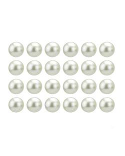 Kit com 12 pares de brincos pequenos de pérola branca Liansí