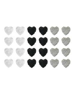 Kit com 12 pares de brincos pequenos prata grafite e preto Corazón