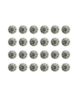 Kit com 12 pares de brincos pequenos cristal Assivir