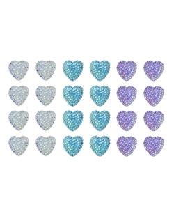 Kit com 12 pares de brincos pequenos branco turquesa e roxo Rainbow