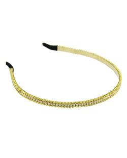 Tiara de metal dourado com strass cristal Sintury