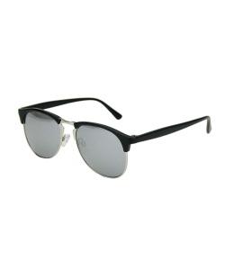 Óculos de sol preto e prateado Escriava