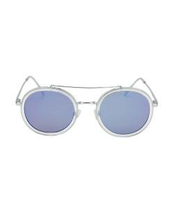 Óculos de sol prateado e espelhado azul Antares