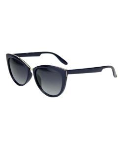 Óculos de sol azul escuro com detalhe dourado Tyrion
