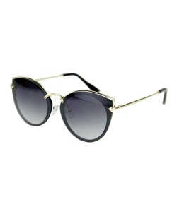 Óculos de sol preto com detalhes dourado Cersei