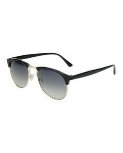 Óculos de sol preto com detalhes dourado Daendery