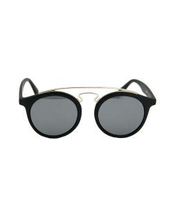 Óculos de sol preto com detalhes dourado Clegani