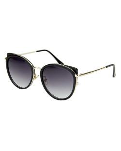 Óculos de sol preto com detalhes dourado Arya