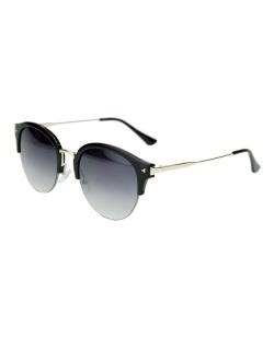 Óculos de sol preto com detalhes dourado Sanser