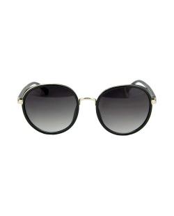 Óculos de sol preto com detalhes dourado Sianro